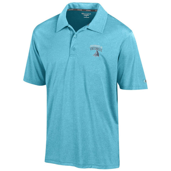 University of Okoboji Vapor Heather Polo - Bright Turquoise
