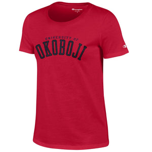 Women's Okoboji University Short Sleeve Tee - Red