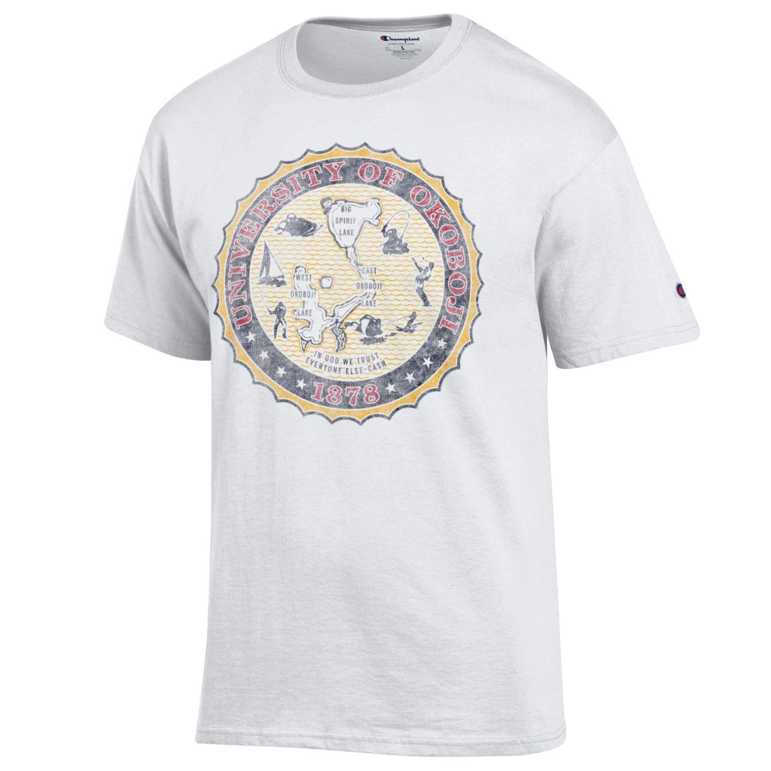 Retro Full Color Crest Tee - White