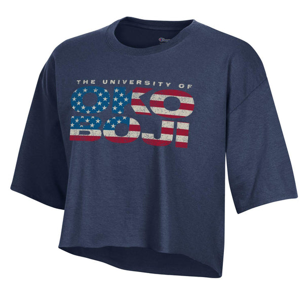 Champion University of Okoboji *Crop Tee* - Navy