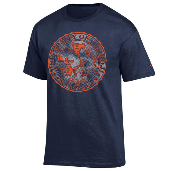 Silver Orange Okoboji Tee - Navy