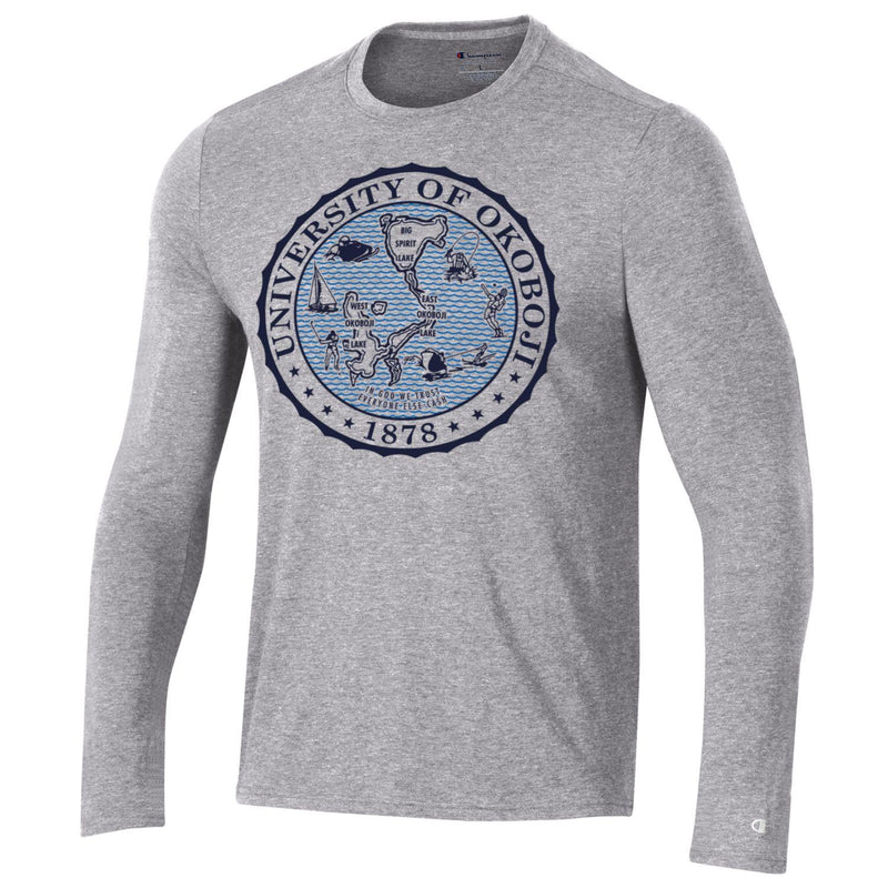 University of Okoboji Long Sleeve Champion® Blue Water Crest