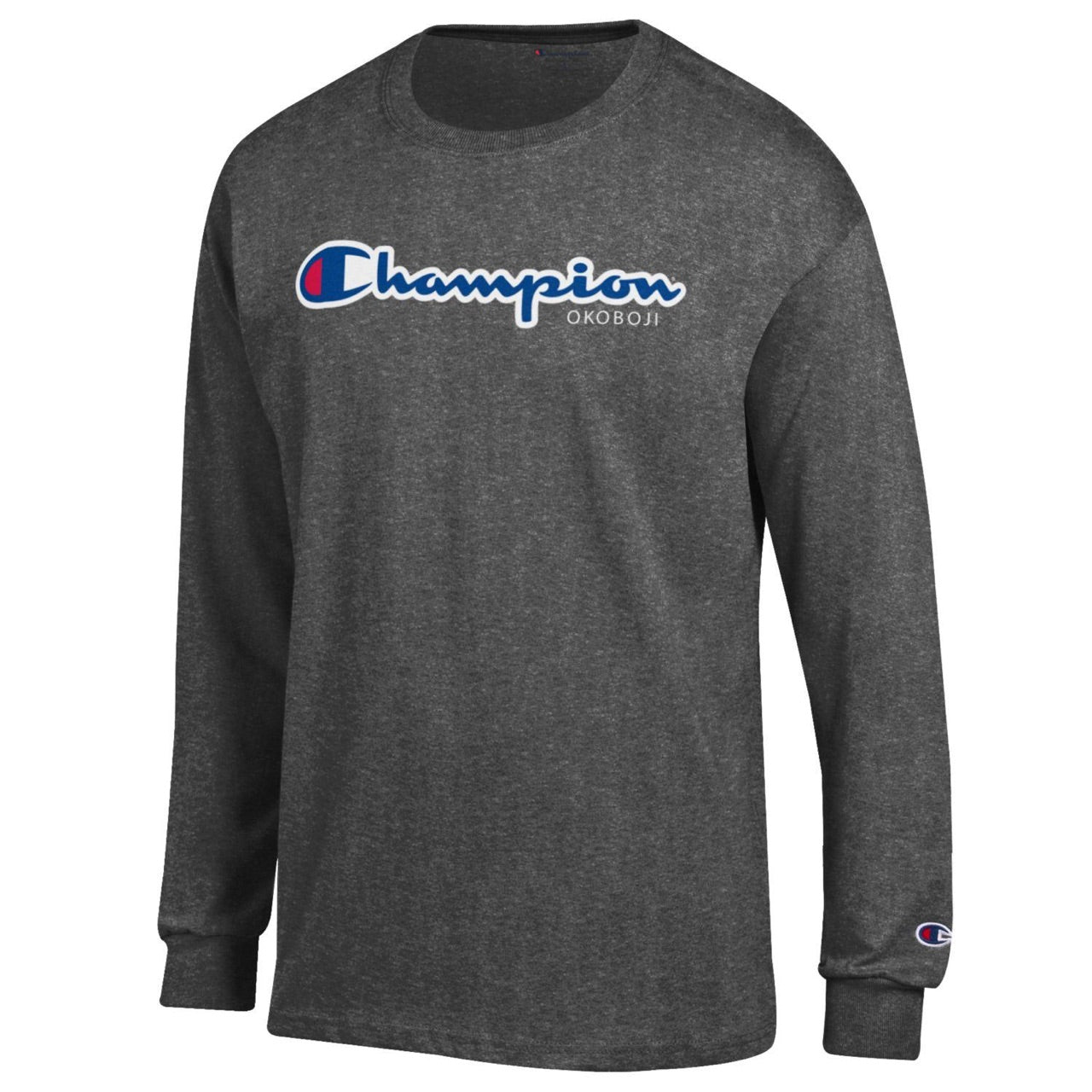 Champion® of Okoboji Long Sleeve - Champion Charcoal