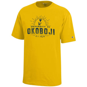 Kids University of Okoboji Campus Sun - Yellow Gold