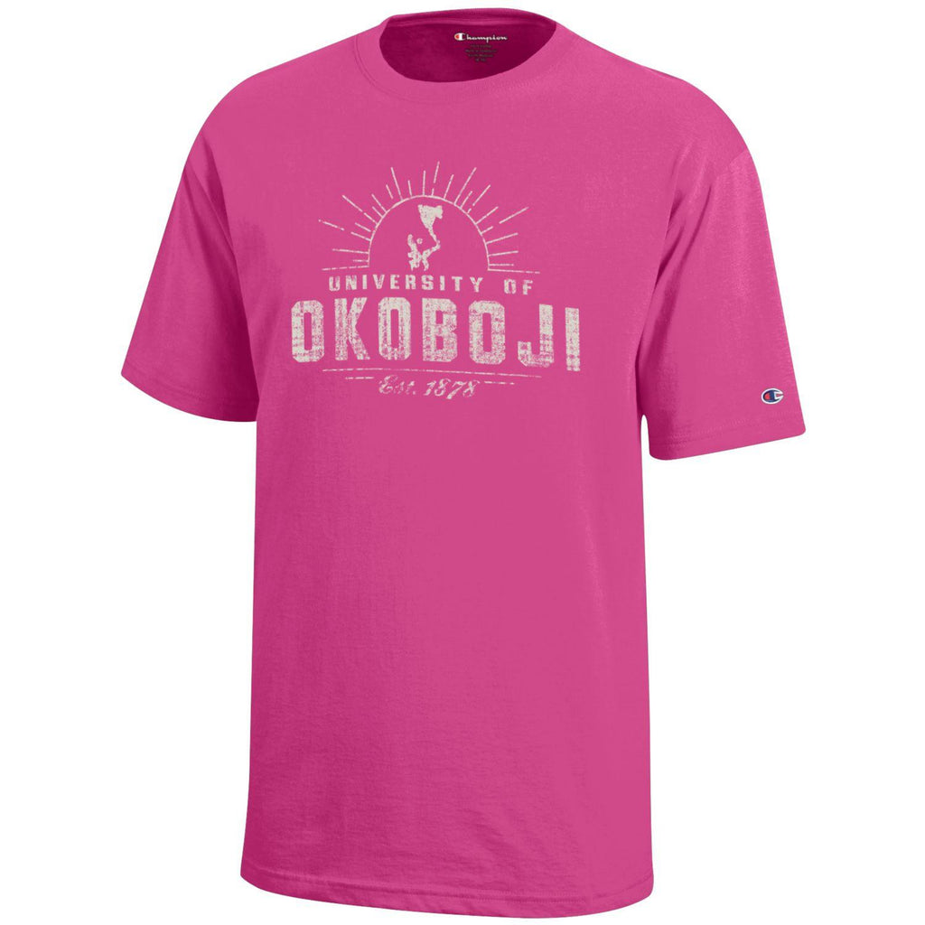 Kids University of Okoboji Campus Sun - Pink