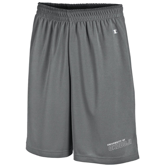 Champion Long Mesh Men's Shorts with Pockets - Gray