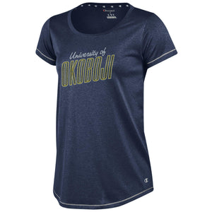 Midnight Navy Heathered Champion Ladies Tee