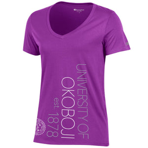 Ladies Purple Champion V-Neck