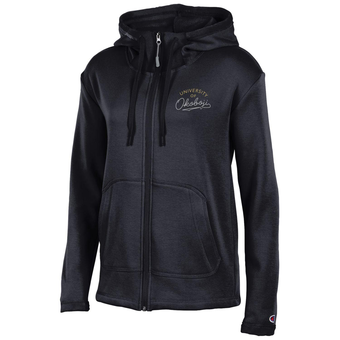 Ladies Full Zip Black Embroidered (Very Soft Inside)