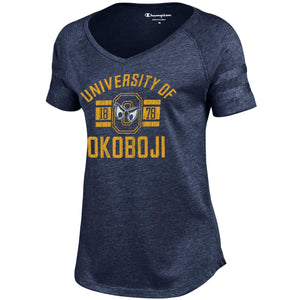 University of Okoboji Women's Epic Scoop - Heathered Navy