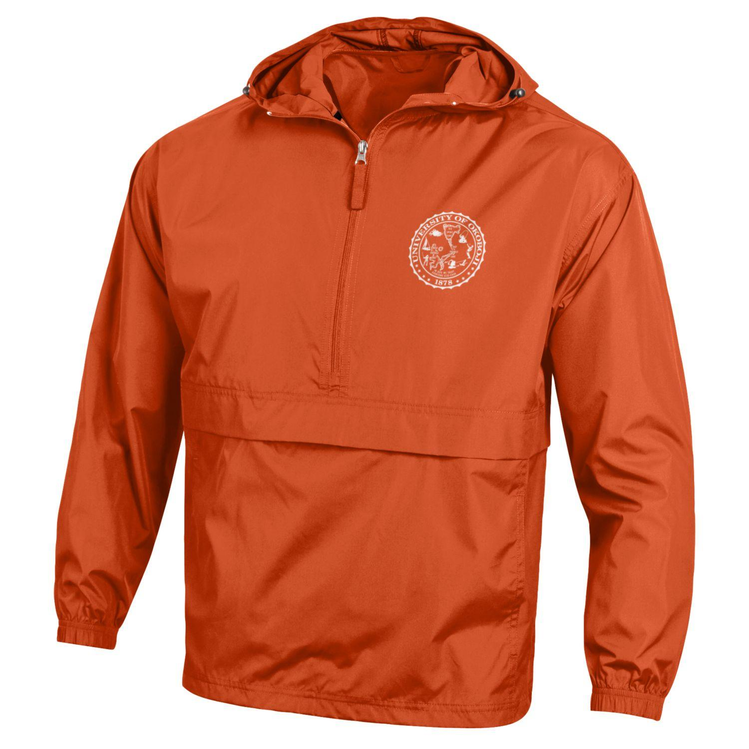9f84662e Champion Packable Jacket - Orange - The Three Sons