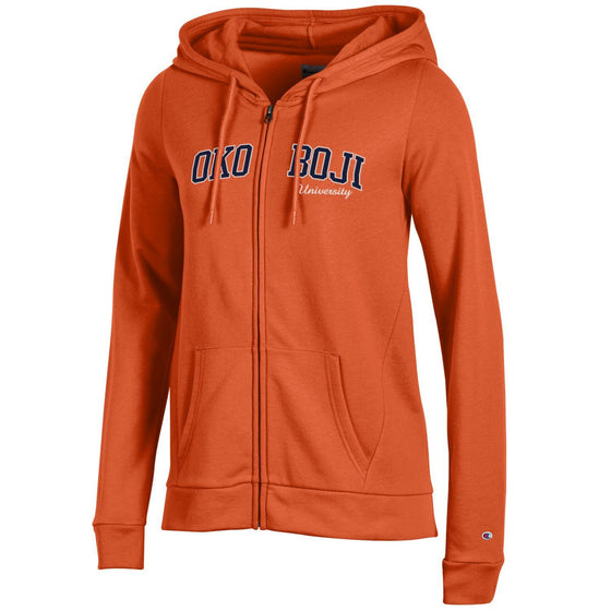 Orange Champion Eco® Fleece Full-Zip Hoodie