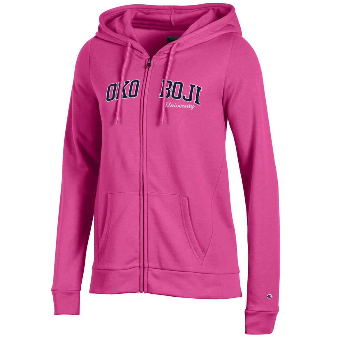 Pink Champion Eco® Fleece Full-Zip Hoodie