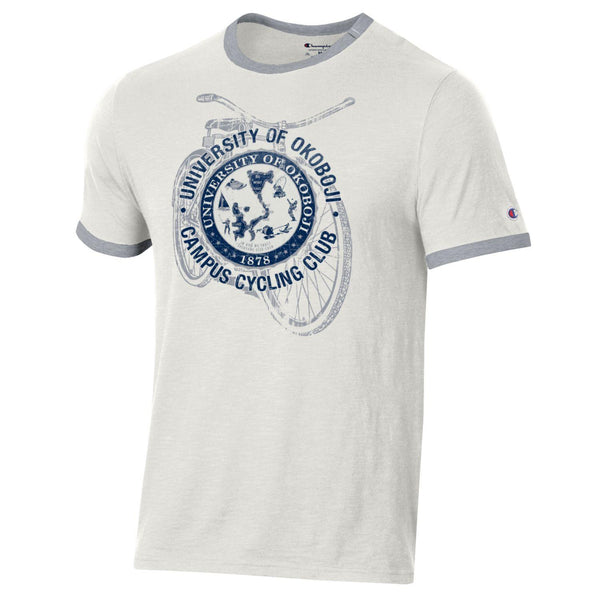 OKOBOJI Short Sleeve Ringer Tee - Campus Cycling Club