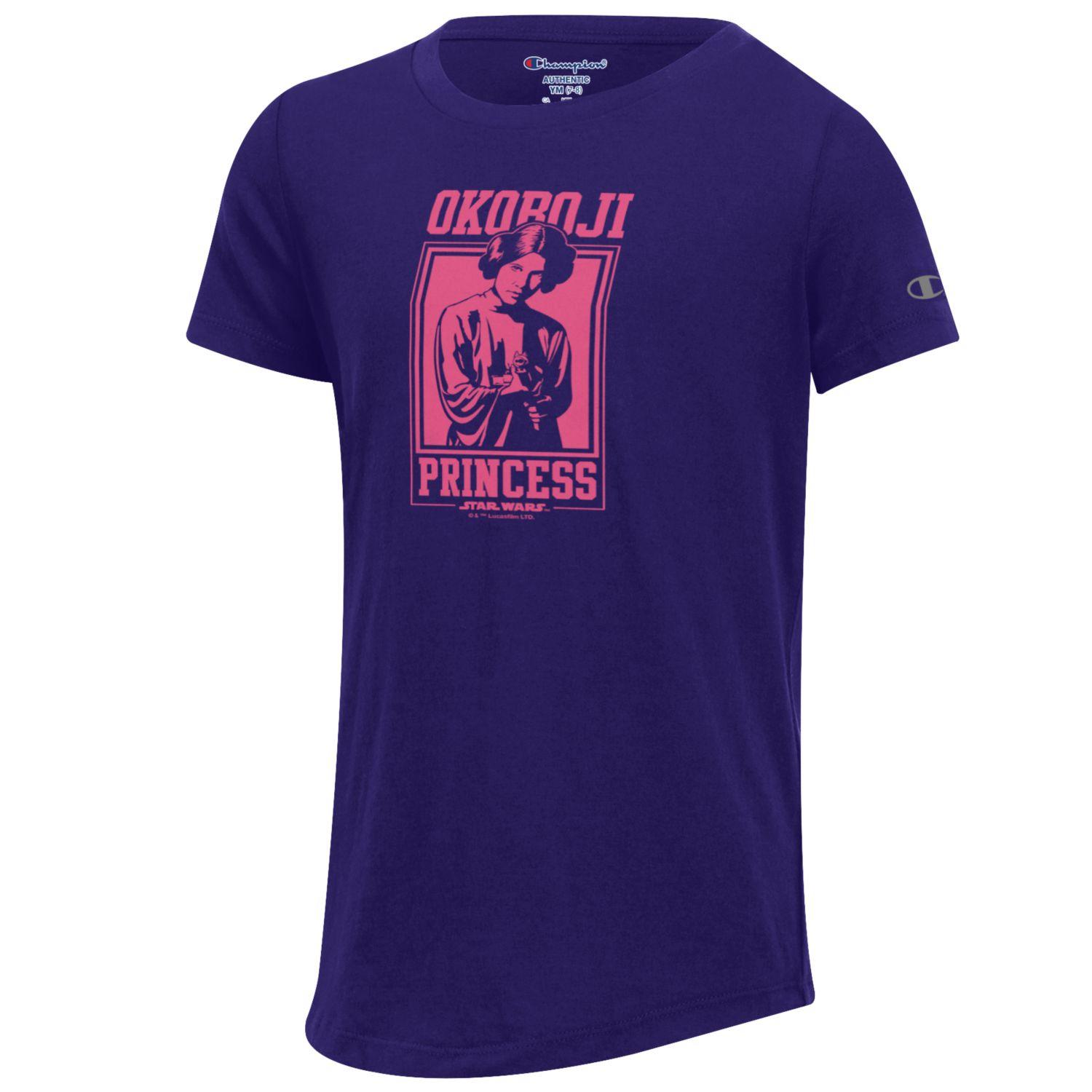 "Youth Star Wars™ ""Okoboji Princess"" Tee-Purple"