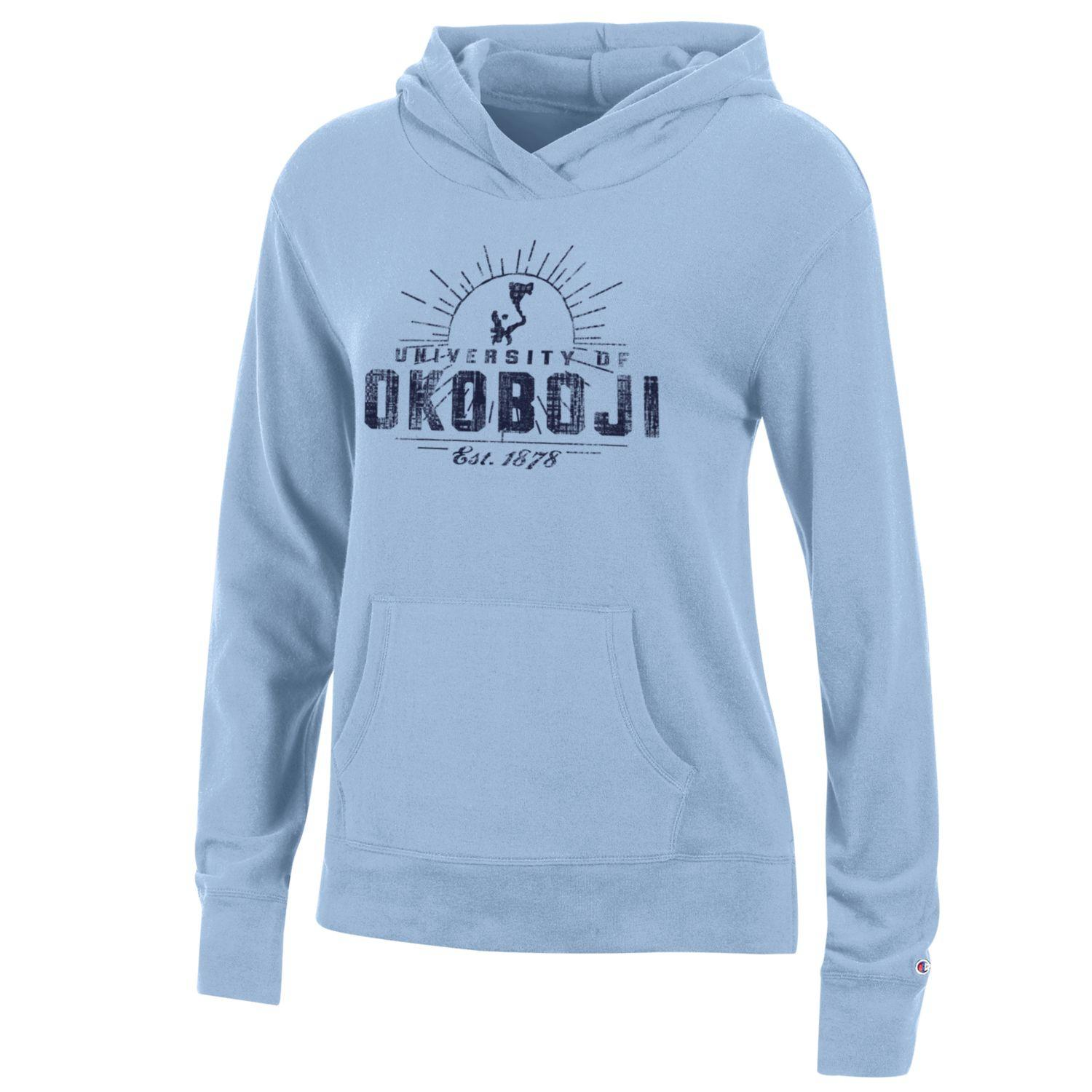 Ladies University Lounge Hood - Oceanfront Blue