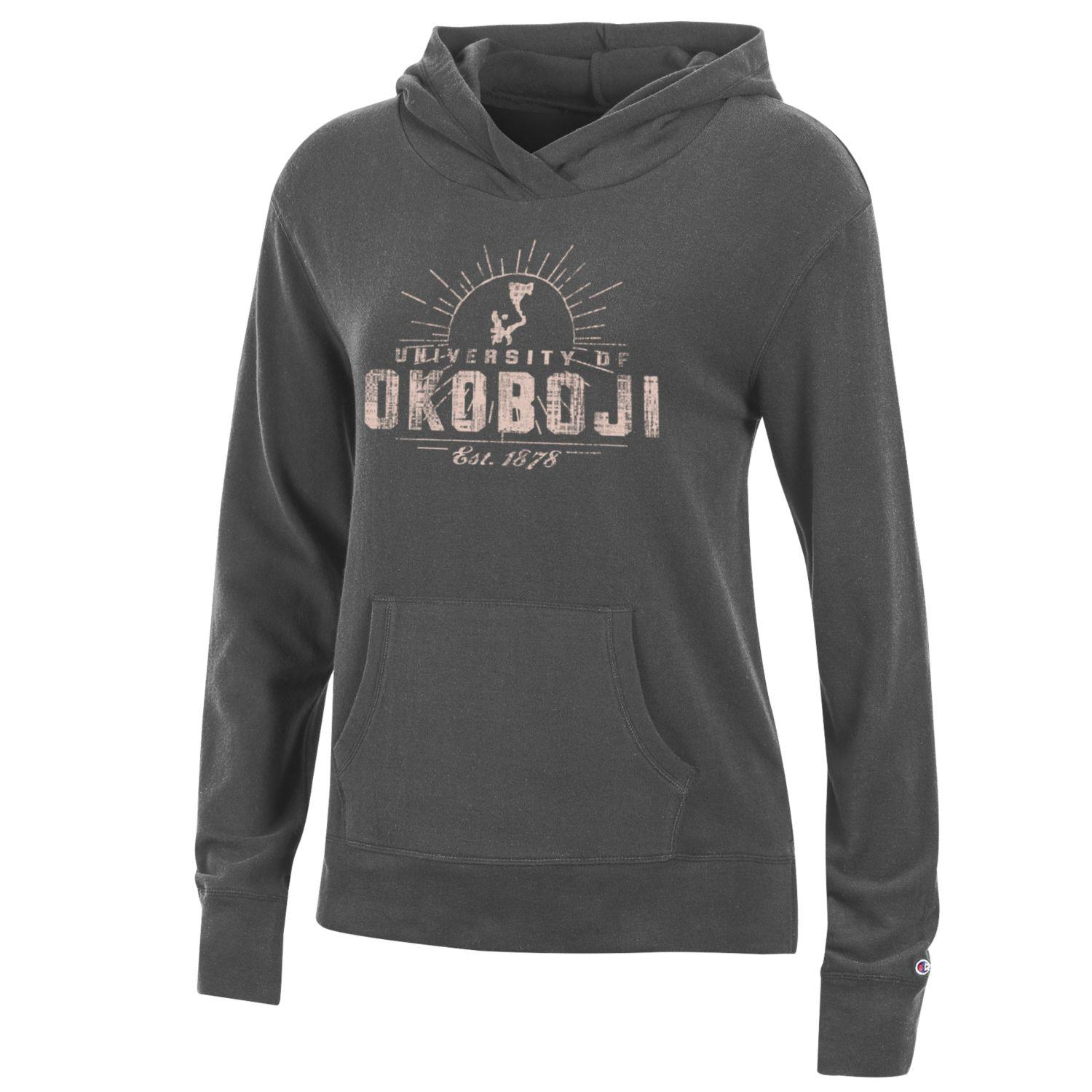 Ladies University Lounge Hood - Charcoal/Granite Heather