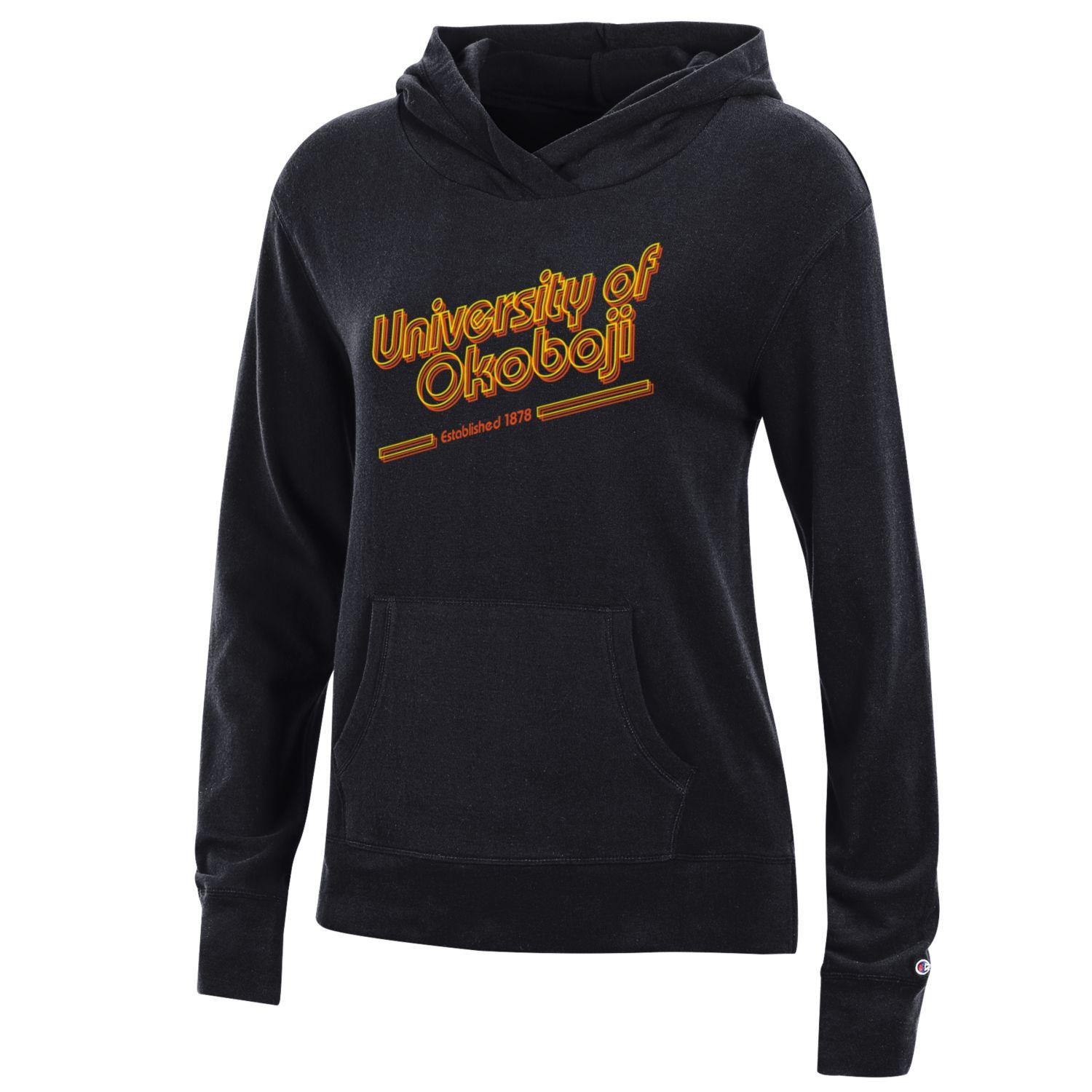 Ladies University Lounge Hood - Black