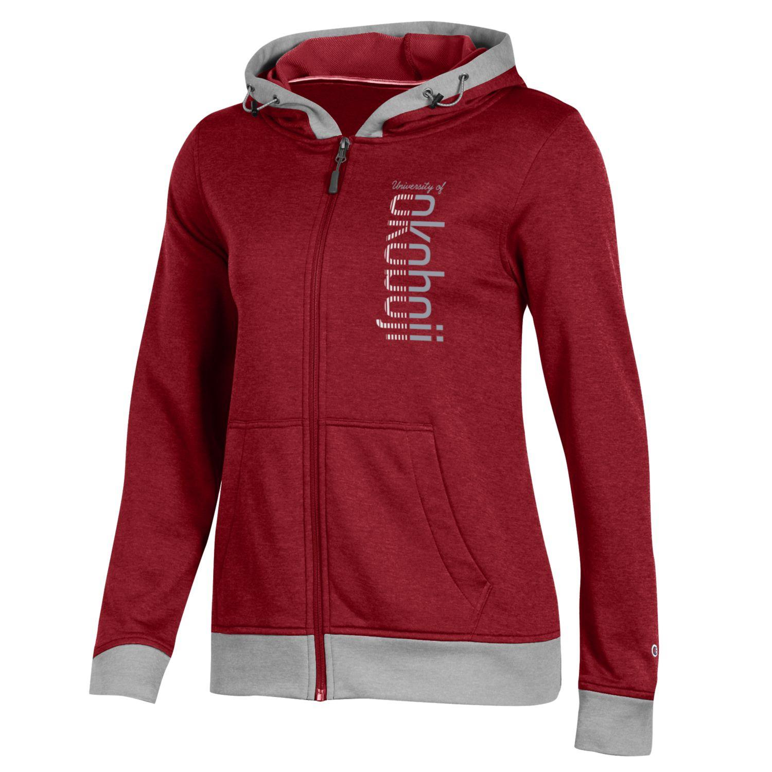 Women's Champion Spark Full Zip Hood - Red