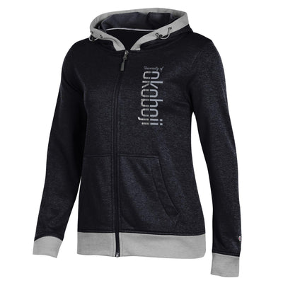 Women's Champion Spark Full Zip Hood - Black