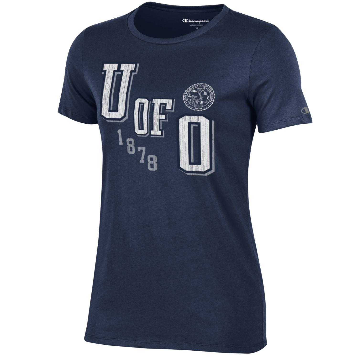 Women's U of O Short Sleeve Tee - Navy