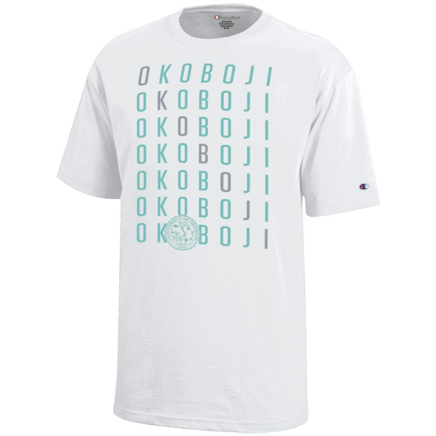 Girls OKOBOJI Crossword Tee - Mint Green