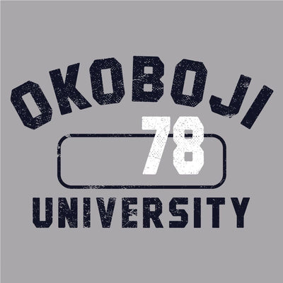 Okoboji University Gym Tee - Navy Print
