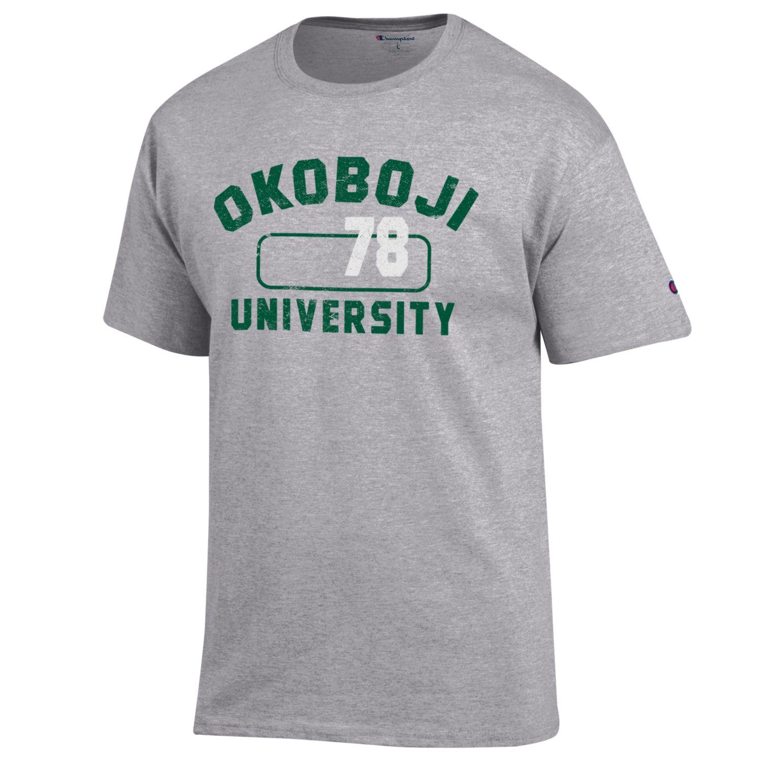 Okoboji University Gym Tee - Green Print