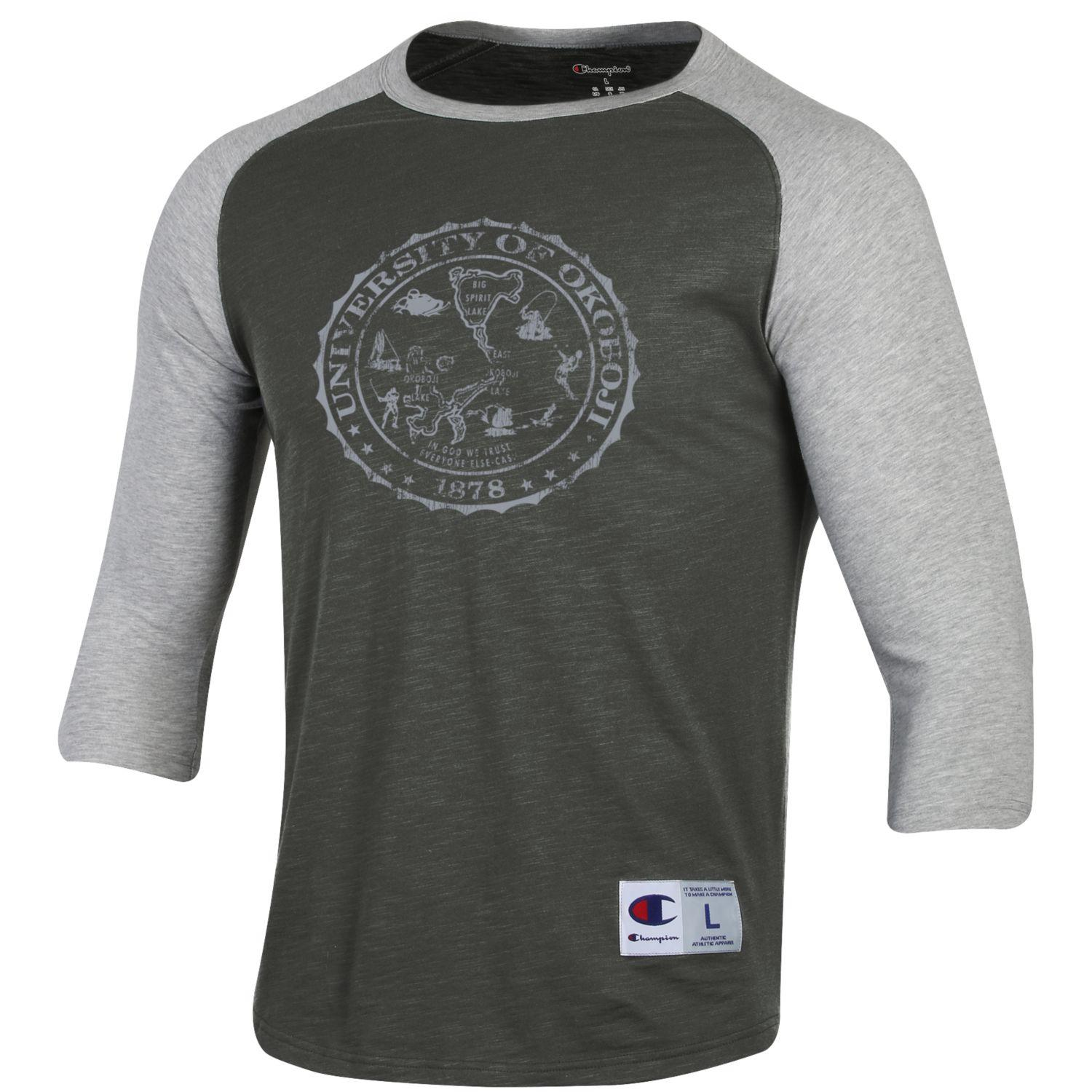 Baseball Slub Tee - Grey