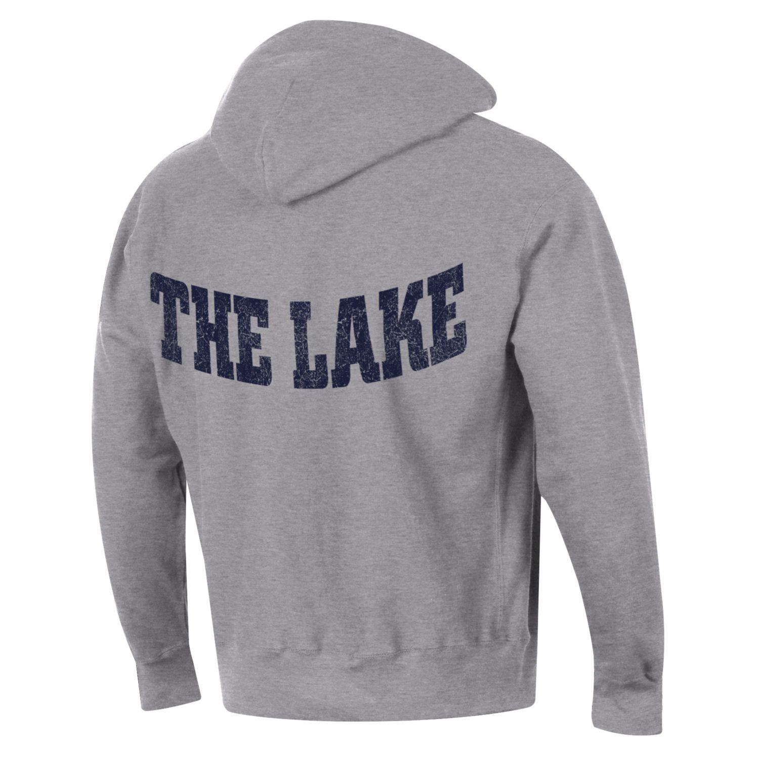 "U of O Crest Champion ""THE LAKE"" Reverse Weave Hood - Oxford Heather"