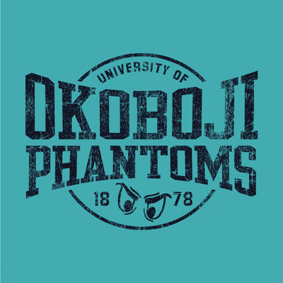 OKOBOJI PHANTOM EYES SHORT SLEEVE TEE - AQUA