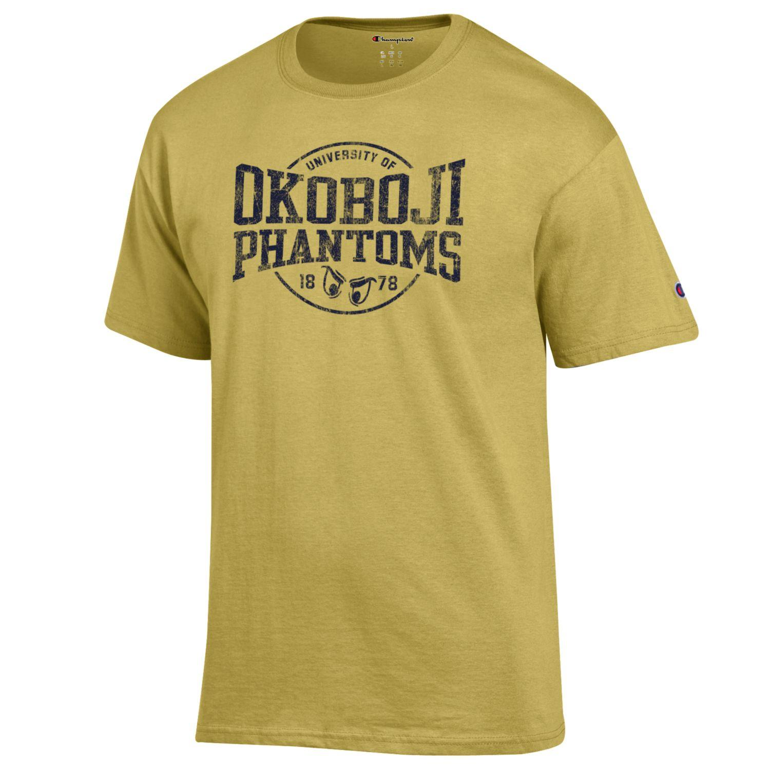 OKOBOJI PHANTOM EYES SHORT SLEEVE TEE - SPICY GOLD