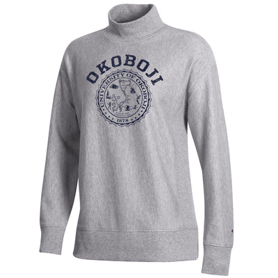 WOMEN'S OKOBOJI REVERSE WEAVE TERRY MOCK