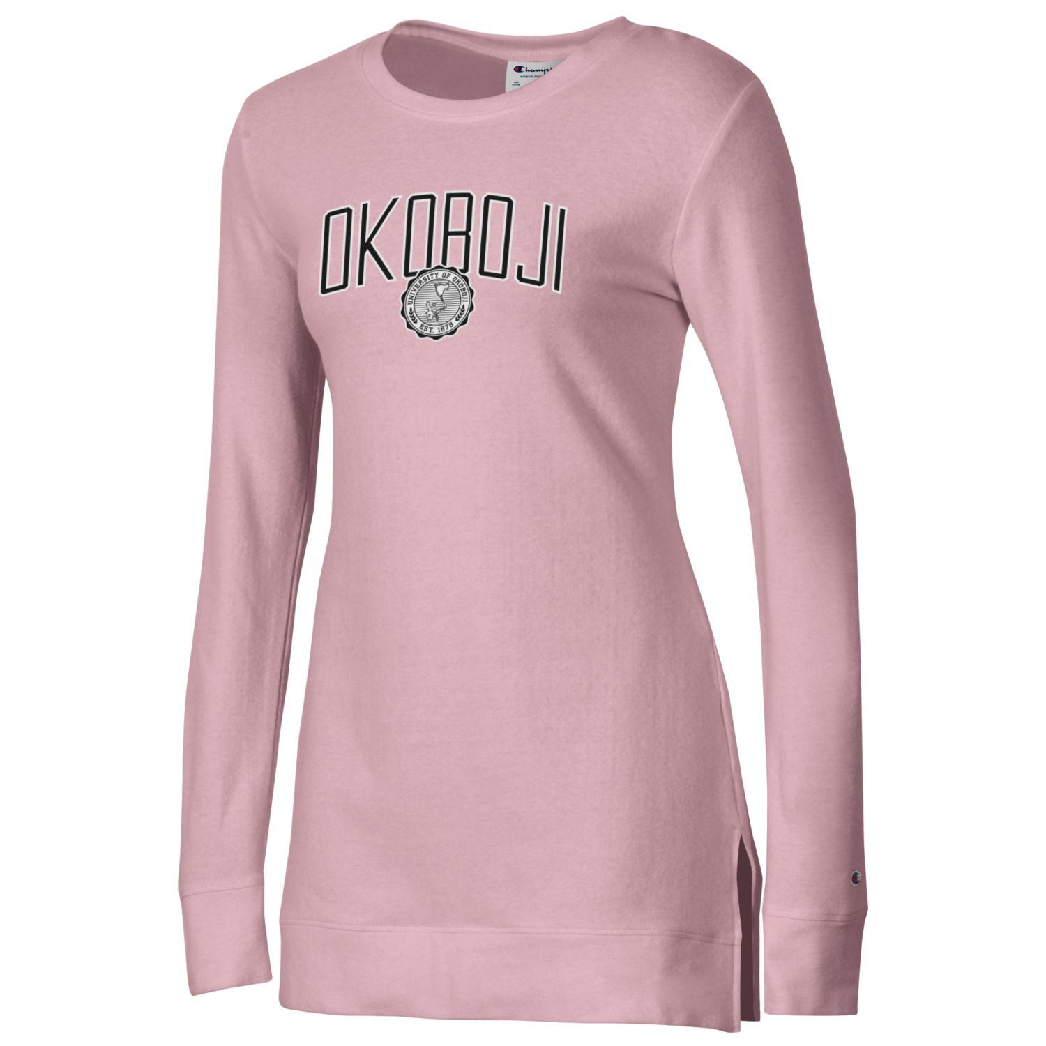 OKOBOJI WOMEN'S UNIVERSITY LOUNGE TUNIC - FEATHER PINK