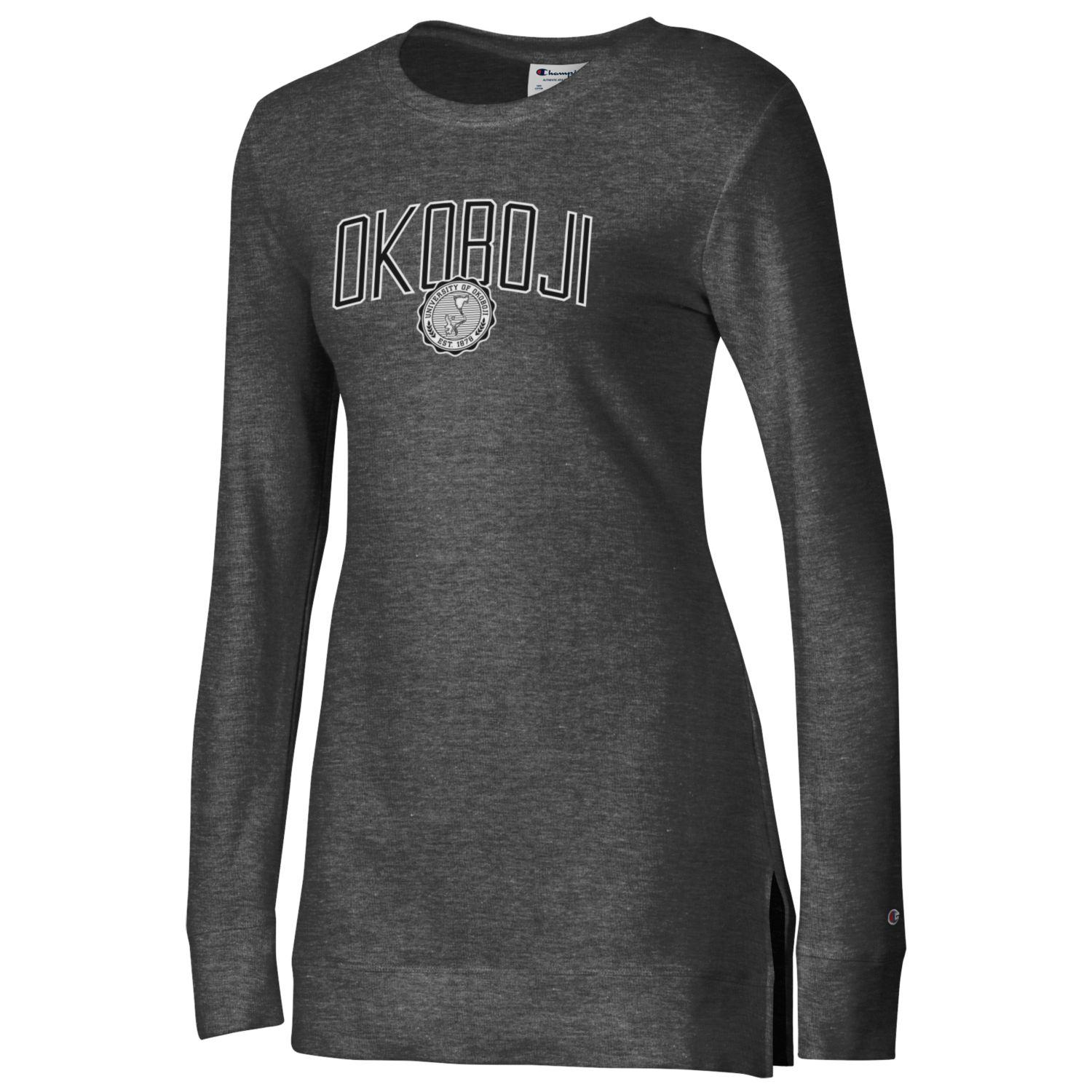OKOBOJI WOMEN'S UNIVERSITY LOUNGE TUNIC - GRANITE HEATHER