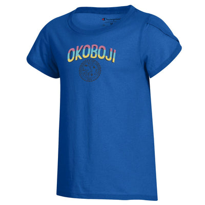 "Okoboji Girls University ""Girly"" Tee - Royal"