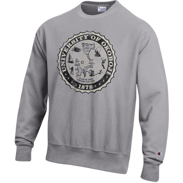 Champion Reverse Weave Oxford Grey Crest Crew