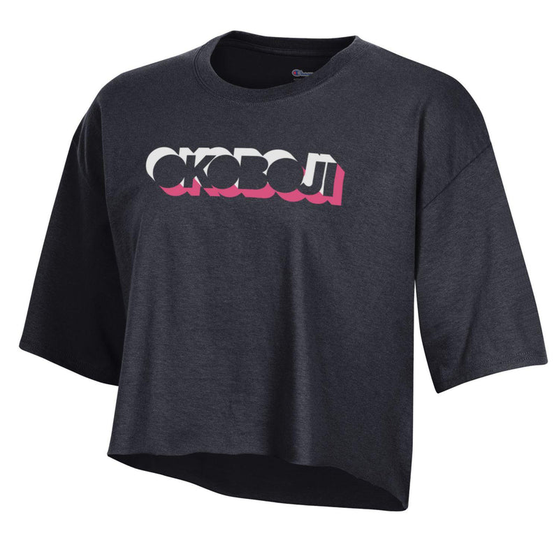 Champion University of Okoboji *Crop Tee* - BLACK