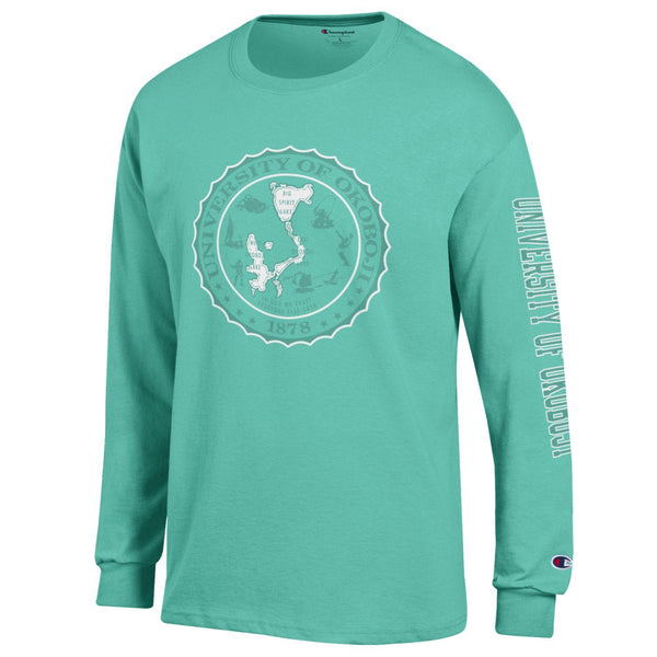 Champion SW Long Sleeve Tee - Light Sea Green