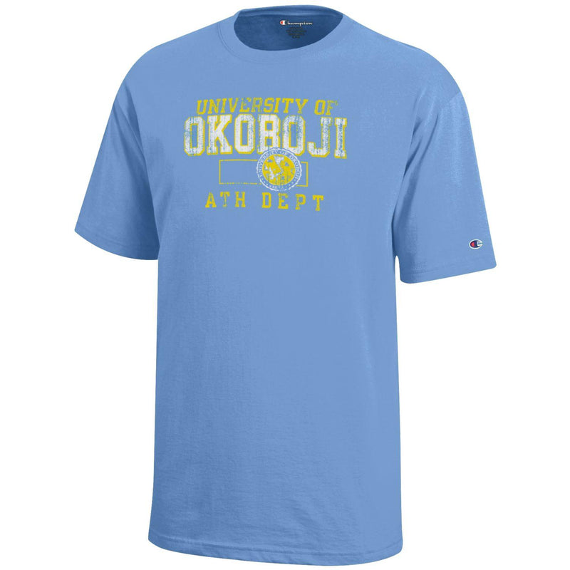Kids Light Blue University of Okoboji in Iowa T-Shirt