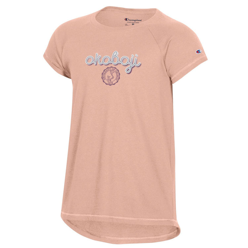 Youth Girls University Tee - Blushing Peach