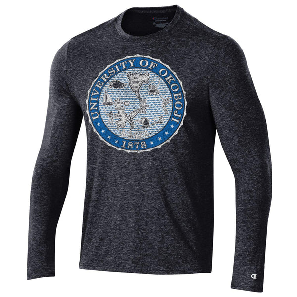 Okoboji MEN'S FIELD DAY LONG SLEEVE TEE - Royal Blue Crest