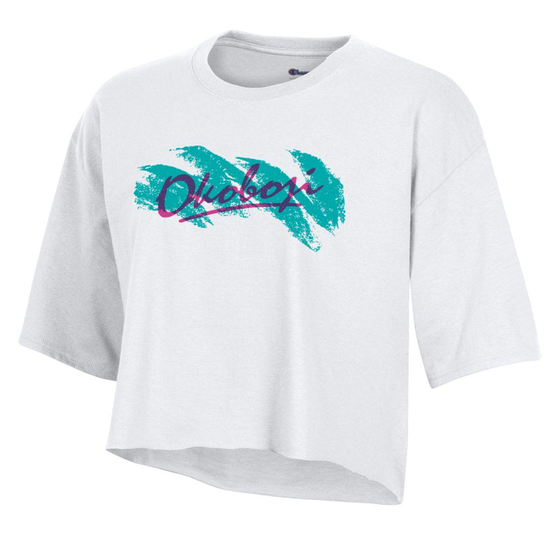 Women's Okoboji On The Go Cropped Tee