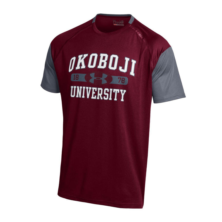 University of Okoboji Under Armour 'Maroon & Charcoal'  Youth Performance T