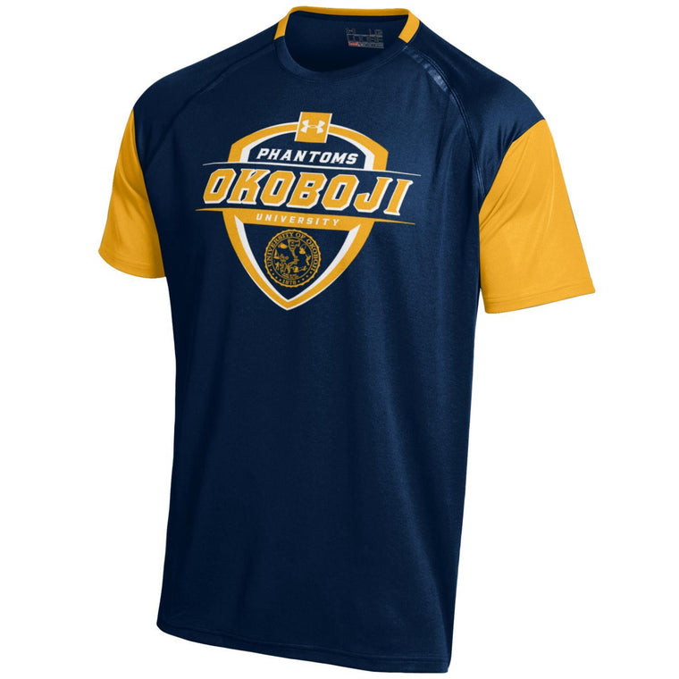 Under Armour Navy & Gold UofO Shield T-Shirt