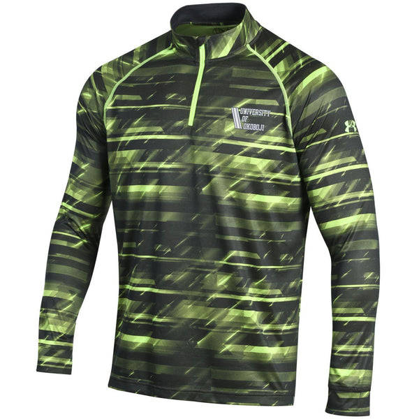 U of O Left Chest Under Armour Light Weight Hyper Green
