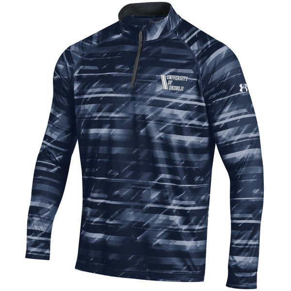 U of O Left Chest Under Armour Light Weight Midnight Navy