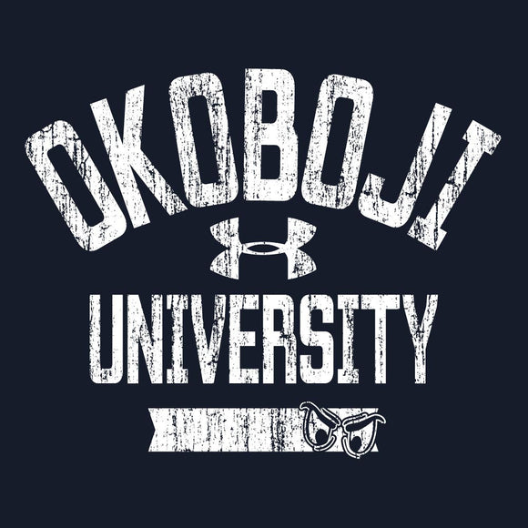 University of Okoboji Women's 60 40 Phantom Tee - Navy