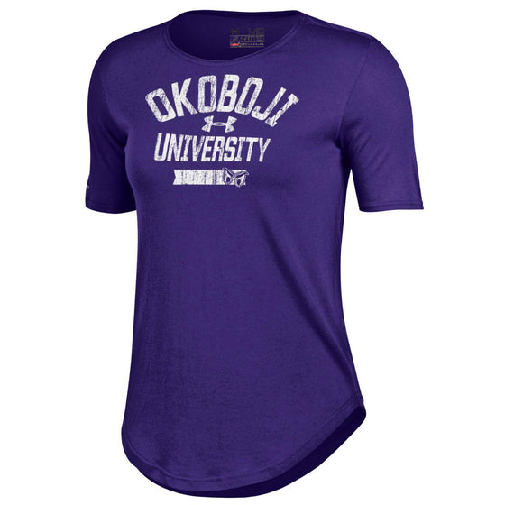 University of Okoboji Women's 60 40 Phantom Tee - Purple Pride