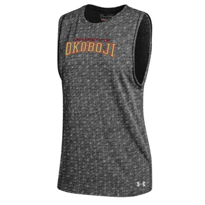 Women's U of O Triblend Grid Tank